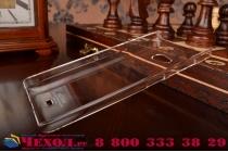 Фирменная задняя панель-крышка-накладка из тончайшего и прочного пластика для Microsoft Lumia 540 / Dual SIM прозрачная