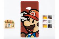 """Фирменная необычная уникальная пластиковая задняя панель-чехол-накладка для Microsoft Lumia 540 / Dual SIM """"тематика супер Марио"""""""