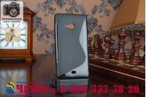 Фирменная ультра-тонкая полимерная из мягкого качественного силикона задняя панель-чехол-накладка для Microsoft Lumia 540 Dual SIM черный