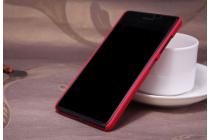 Фирменная задняя панель-крышка-накладка из тончайшего и прочного пластика для Microsoft Lumia 540 / Dual SIM красная