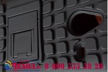Противоударный усиленный ударопрочный фирменный чехол-бампер-пенал для Microsoft Lumia 640 XL черный