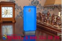 Противоударный усиленный ударопрочный фирменный чехол-бампер-пенал для Microsoft Lumia 640 XL синий