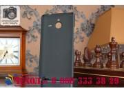 Фирменная задняя панель-крышка-накладка из тончайшего и прочного пластика для Microsoft Lumia 640 XL черная..