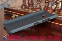 Фирменная задняя панель-крышка-накладка из тончайшего и прочного пластика для Microsoft Lumia 640 XL черная