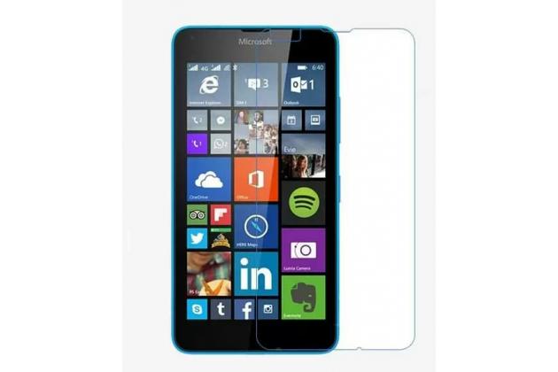 Фирменная оригинальная защитная пленка для телефона Microsoft Lumia 640 глянцевая