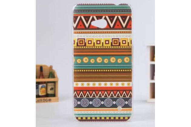 Фирменная роскошная задняя панель-чехол-накладка с безумно красивым расписным эклектичным узором на Microsoft Lumia 640
