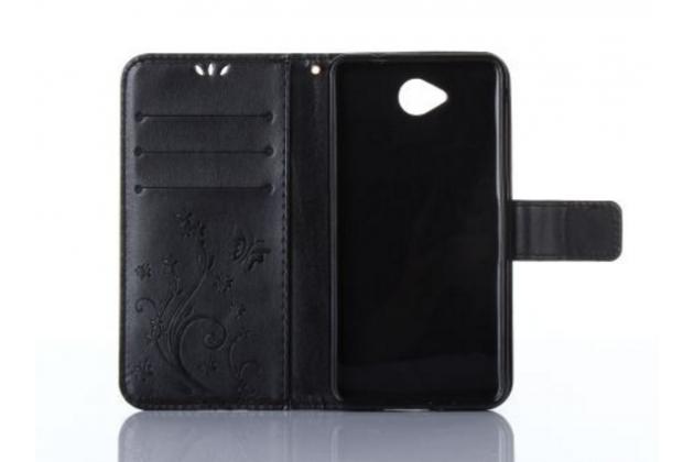 """Фирменный чехол-книжка из качественной импортной кожи с подставкой застёжкой и визитницей для Майкрасофт Люмия 650 / Microsoft Lumia 650 5.0"""" черный"""