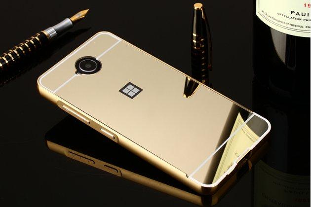 """Фирменный оригинальный чехол-бампер-накладка для  Microsoft Lumia 650 5.0"""" золотой из авиационного алюминия"""