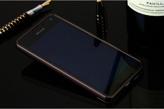 """Фирменный оригинальный чехол-бампер-накладка для  Microsoft Lumia 650 5.0"""" черный из авиационного алюминия"""