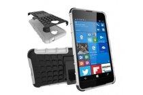 """Противоударный усиленный ударопрочный фирменный чехол-бампер-пенал для Microsoft Lumia 650 5.0""""  белый"""