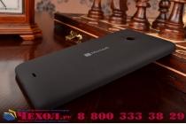 Родная оригинальная задняя крышка-панель которая шла в комплекте для Microsoft Nokia Lumia 535 черная