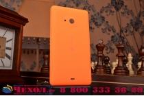 Родная оригинальная задняя крышка-панель которая шла в комплекте для Microsoft Nokia Lumia 535 оранжевая