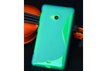 Фирменная ультра-тонкая полимерная из мягкого качественного силикона задняя панель-чехол-накладка для Microsoft Nokia Lumia 535 зеленая