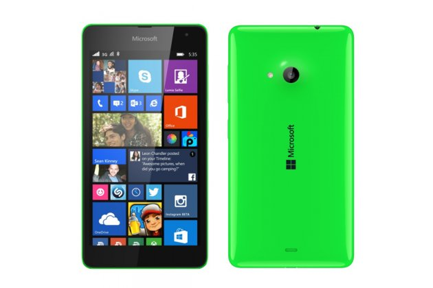 Родная оригинальная задняя крышка-панель которая шла в комплекте для Microsoft Nokia Lumia 535 зеленая