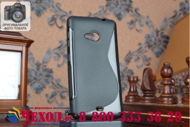 Фирменная ультра-тонкая полимерная из мягкого качественного силикона задняя панель-чехол-накладка для Microsoft Nokia Lumia 535 черный