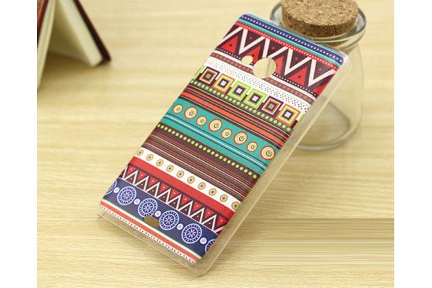 Фирменная роскошная задняя панель-чехол-накладка с безумно красивым расписным эклектичным узором на Microsoft Nokia Lumia 535