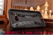 """Противоударный усиленный ударопрочный фирменный чехол-бампер-пенал для Microsoft Lumia 550 4.7""""  черный"""