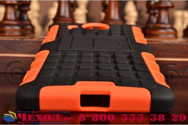 """Противоударный усиленный ударопрочный фирменный чехол-бампер-пенал для Microsoft Lumia 950 XL / 950 XL Dual Sim 5.7"""" оранжнвый"""