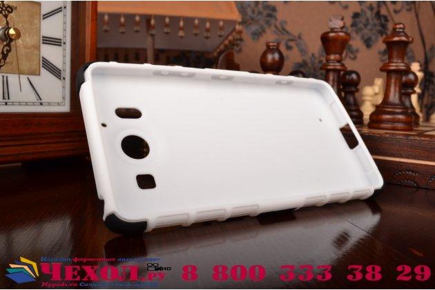"""Противоударный усиленный ударопрочный фирменный чехол-бампер-пенал для Microsoft Lumia 950 / 950 Dual Sim 5.2"""" белый"""