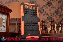 """Противоударный усиленный ударопрочный фирменный чехол-бампер-пенал для Microsoft Lumia 950 / 950 Dual Sim 5.2"""" оранжнвый"""