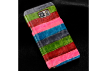 """Фирменная неповторимая экзотическая панель-крышка обтянутая кожей крокодила с фактурным тиснением для Microsoft Nokia Lumia 950 XL тематика """"Тропический Коктейль"""". Только в нашем магазине. Количество ограничено."""