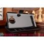 """Фирменный чехол-книжка из качественной импортной кожи с мульти-подставкой застёжкой и визитницей для Майкрософт Люмия 950 ХЛ / 950 ХЛ Дуал Сим 5.7"""" черный"""