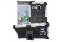 """Противоударный усиленный ударопрочный фирменный чехол-бампер-пенал для Microsoft Lumia 950 XL / 950 XL Dual Sim 5.7"""" белый"""