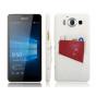 Фирменная роскошная элитная премиальная задняя панель-крышка для Microsoft Lumia 950 / 950 Dual Sim 5.2