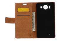 """Фирменный уникальный необычный чехол-книжка для Microsoft Lumia 950 / 950 Dual Sim 5.2"""" """"тематика Олени в цветах"""""""