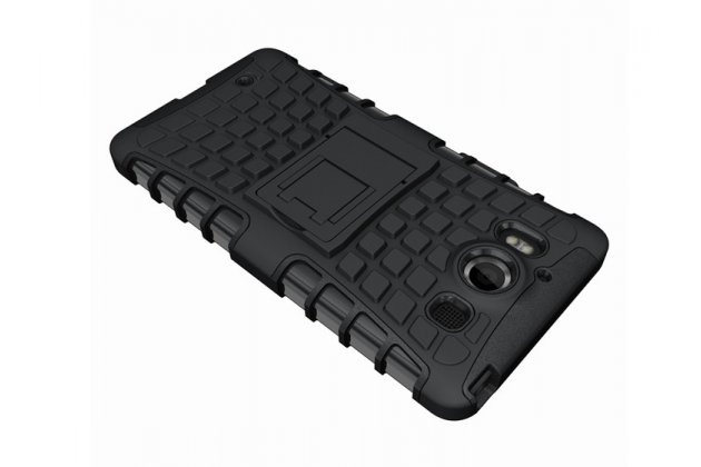 """Противоударный усиленный ударопрочный фирменный чехол-бампер-пенал для Microsoft Lumia 950 / 950 Dual Sim 5.2"""" черный"""