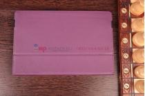 Фирменный чехол-обложка для Microsoft Surface PRO 2 фиолетовый кожаный