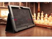 Фирменный чехол-обложка-книжка для Microsoft Surface PRO 2 черный кожаный..
