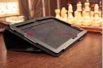 Фирменный чехол-обложка-книжка для Microsoft Surface PRO 2 черный кожаный