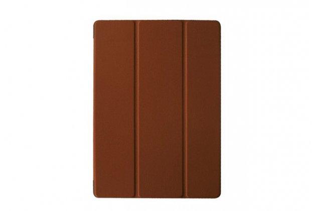 """Фирменный умный чехол самый тонкий в мире для планшета Microsoft Surface 3 10.8"""" дюймов """"Il Sottile"""" коричневый кожаный"""