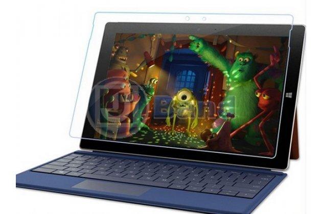 """Фирменное защитное закалённое противоударное стекло премиум-класса из качественного японского материала с олеофобным покрытием для Microsoft Surface 3 10.8"""""""