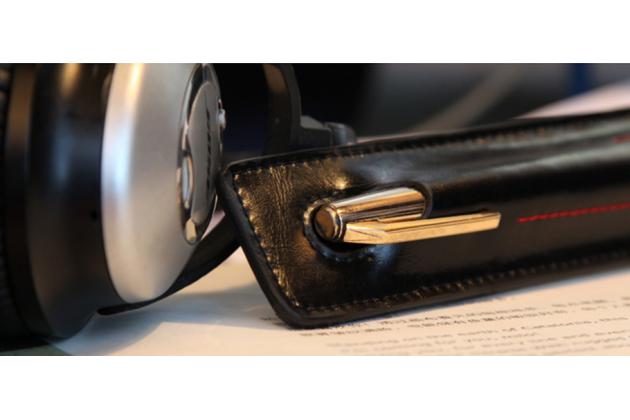 Чехол для ручки-стилуса для планшета Microsoft Surface Pro 3  черный кожаный