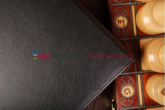 Фирменный чехол обложка для Microsoft Surface Pro 3 черный кожаный