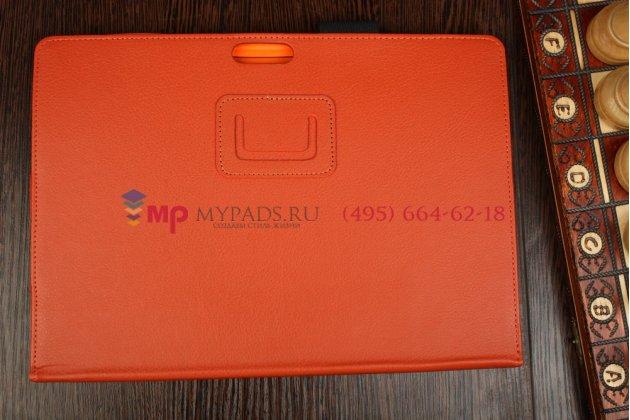 """Фирменный чехол для Microsoft Surface Pro 3 12"""" оранжевый кожаный"""