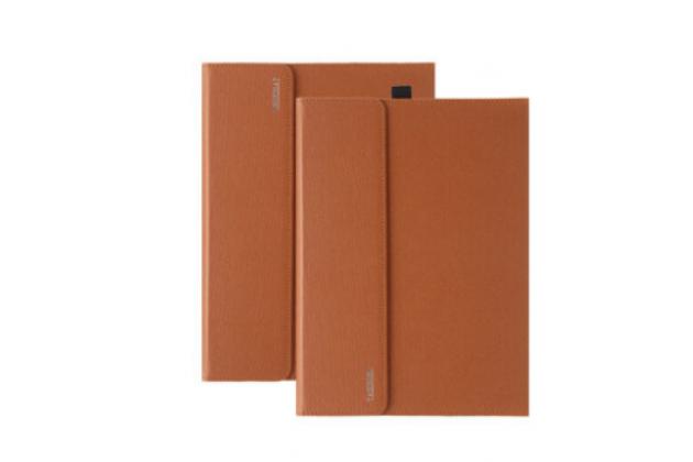 Фирменный чехол для Microsoft Surface Pro 3 Dock Keyboard с отделением под клавиатуру коричневый кожаный