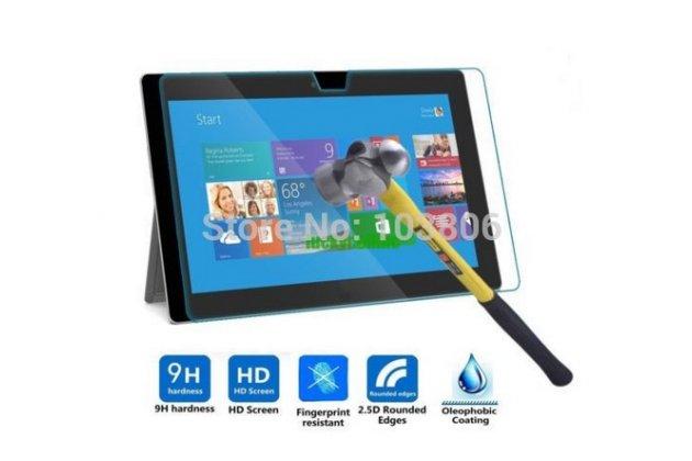 Фирменное защитное закалённое противоударное стекло премиум-класса из качественного японского материала с олеофобным покрытием для Microsoft Surface Pro 3