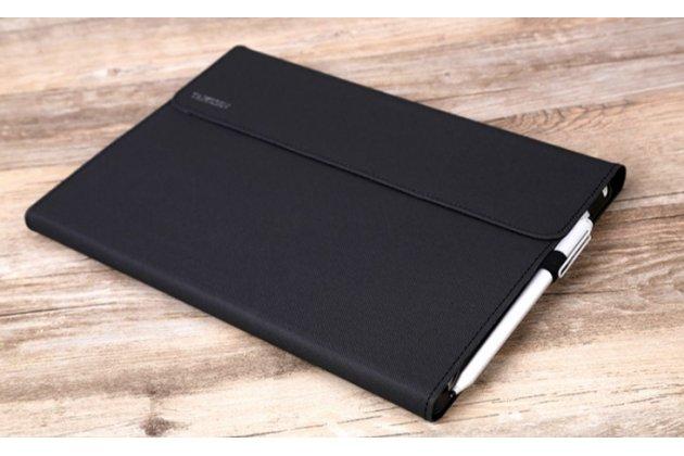 """Фирменный чехол для Microsoft Surface Pro 4 12.3"""" (i5/m3/i7) черный водооталкивающий"""