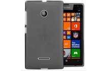 Фирменная ультра-тонкая полимерная из мягкого качественного силикона задняя панель-чехол-накладка для Microsoft Lumia 532 черная