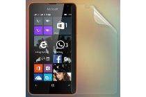 Фирменная оригинальная защитная пленка для телефона Microsoft Lumia 430 глянцевая