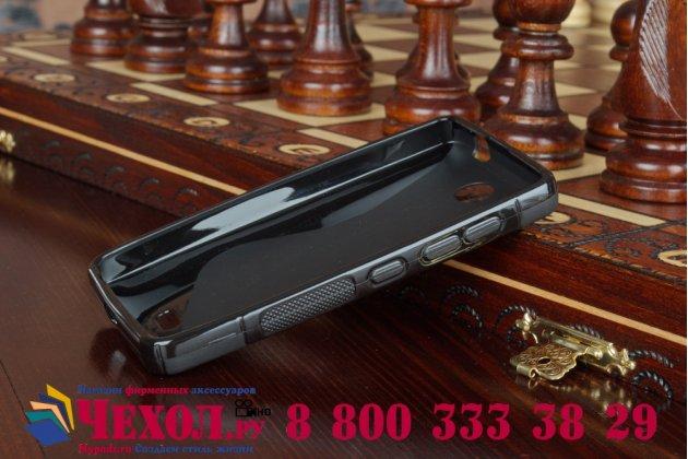 Фирменная ультра-тонкая полимерная из мягкого качественного силикона задняя панель-чехол-накладка для Microsoft Lumia 430 черный