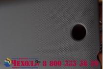 Фирменная задняя панель-крышка-накладка из тончайшего и прочного пластика для Microsoft Lumia 430 черная