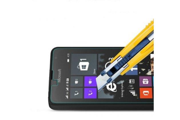 Фирменное защитное закалённое противоударное стекло премиум-класса из качественного японского материала с олеофобным покрытием для Microsoft Lumia 430