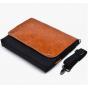 Чехол-сумка-портфель для Microsoft Surface 3 10.8 с отделением для любых аксессуаров коричневый кожаный..