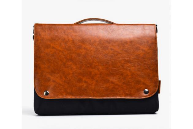 Чехол-сумка-портфель для Microsoft Surface 3 10.8 с отделением для любых аксессуаров коричневый кожаный
