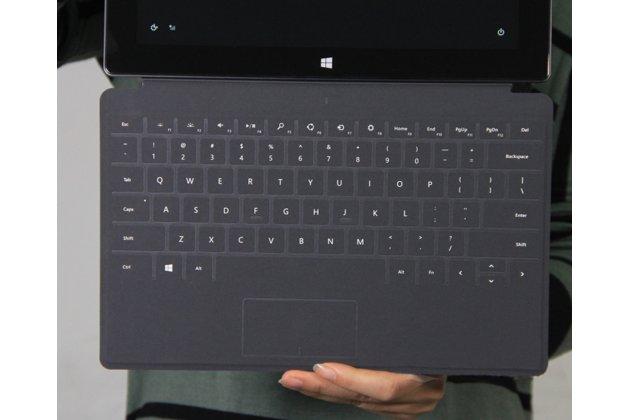 Фирменная оригинальная съемная клавиатура/док-станция/база TYPE Cover с магнитным креплением для планшета Microsoft Surface 1/Surface Pro / Surface RT черного цвета + гарантия + русские клавиши