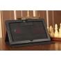 Фирменный чехол для Microsoft Surface черный кожаный..